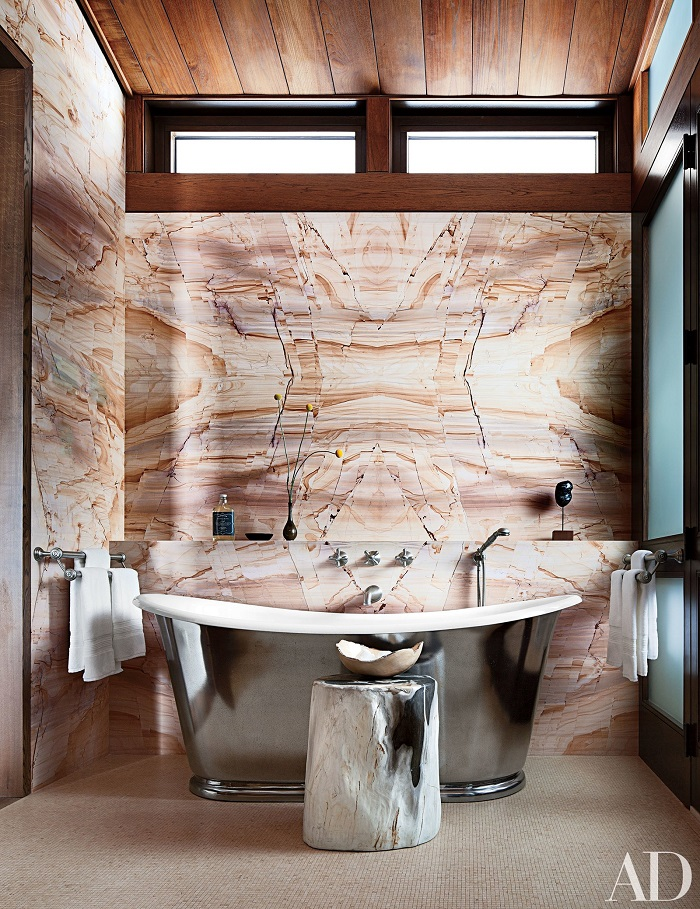 21 Baths Clad In Graphic Marble Stonenews Eu